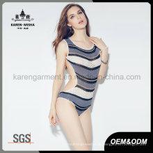 Ladies neuesten Design Beach Wear gestreiften Tankini stricken