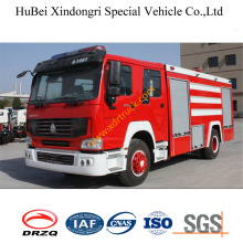 Camión de bomberos del agua de 8ton Sinotruk Euro3
