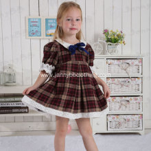 young girls plaid pater pan collar dress