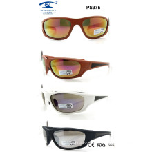 2015 Popular Plastic Newest Sport Sunglasses for Woman Man (PS975)
