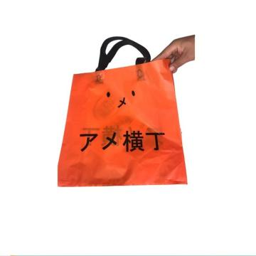 HDPE shopper bag with Colored flexi loop handles