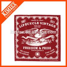 50X50 único impreso su propio diseño pañuelo más barato