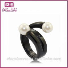 Unique pearl stainless steel rings jewelry