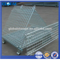 High quality collapsible and stackable wire mesh container