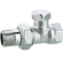J3011 válvula de batente de latão cromada