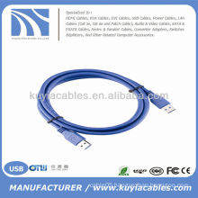 High Quality Blue USB 3.0 cable cord Male to Male For PC and Mac compatible