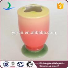 Cepillo de dientes de cerámica pintado a mano