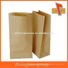 Populares bolsas de papel kraft proveedor con paquete de refuerzo lateral para el té