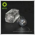 15ML blanc verre mat flacon compte-gouttes argent blanc en caoutchouc compte-gouttes bouteille sérigraphie pour l'huile essentielle cosmétique
