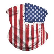 Bandanas de couverture de bouche de masque de drapeau sans couture pour l'extérieur