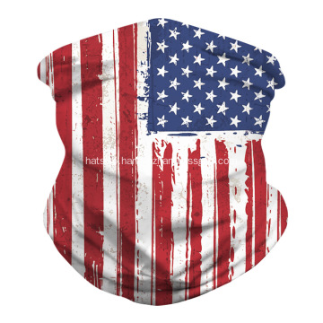 Seamless Flag Mask Mouth Cover Bandanas for Outdoor