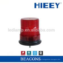 Lámpara de alarma LED rojo de camión Luz de advertencia con base magnética y función de flash giratorio y estroboscópico Beaver estroboscópico