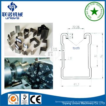41 * 41 unistrut equipo de acero U canal de formación de rollo