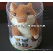 Повторите то, что вы говорите Запись Hamster Toy с коробкой из ПВХ