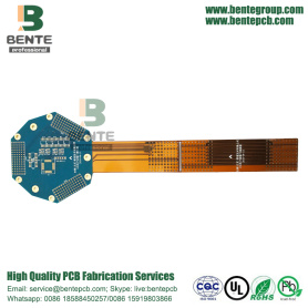 Rigid-flex PCB 8 Layers High-precision ENIG Bule