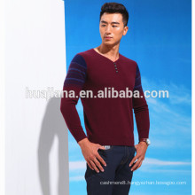 V neck cashmere sweater for man