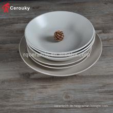 Kundenspezifische hochwertige Steingutschüssel serviert Schüssel