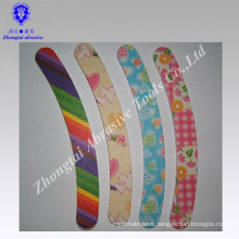 Manufacture bending EVA nail file with different print