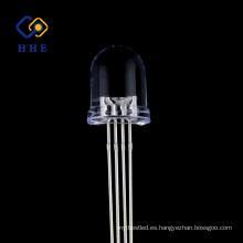 El alto brillo 8m m redondo RGB llevó precios del diodo claro del agua del ánodo común