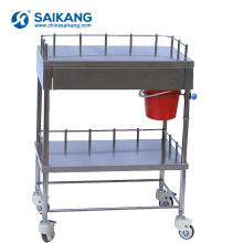 SKH025 Chariot de médecine d'hôpital de deux couches
