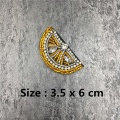 Clothing Embroidery Fruits Patch Beaded Lemon Patches