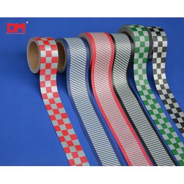 Warning Checkered Reflective Tape for Clothing Sew On