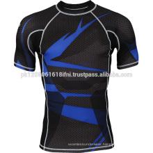 body shaper half sleeve compression wear training gym wear rash guard