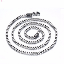 High Grade Stainless Steel Long Silver 3Mm Box Chain Necklace