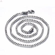 Высокий класс из нержавеющей стали длинные серебряные 3 мм Коробка цепи ожерелье