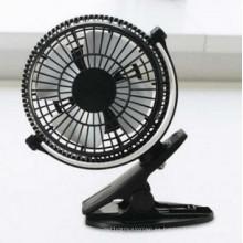 Ventilador de 2 niveles de velocidad del viento USB mini Ventilador de carga con abrazadera - Negro