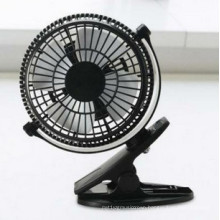 2 level wind speeding USB miniCharging fan with clamp -Black