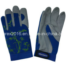 Synthetic Leather Lady Gardening Work Housewife Flower Gloves