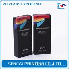 emballage de papier de lèvre haut de gamme de couleur noire pour l'esthétique