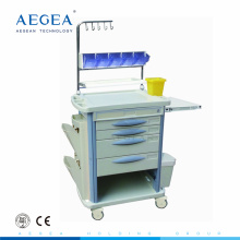 AG-NT004B3 hospital abs surgical instrument nursing cart trolley