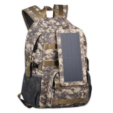 Waterproof Camouflage Solar Backpack Bag