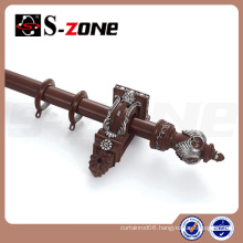 35mm design wooden curtain rod