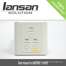 Plaque de face de câble de réseau avec 2 PORT / 3 PORT / 4 PORT