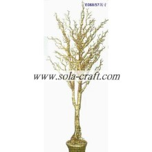 Gold Color 145CM Indoor Home Decorative Artificial Tree For Wedding