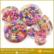 Lose Perle UV Acryl benutzerdefinierte Ohr Plug Großhändler