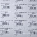 Etiqueta autoadhesiva de papel del código de barras del precio barato de la profesión para el supermercado / etiqueta del precio