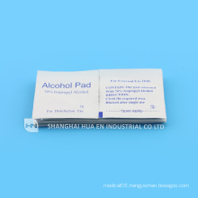 Medical with CE FDA ISO certificated nonwoven alcohol swabs