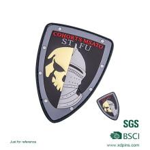 Emblemas personalizados por atacado da polícia do silicone do PVC