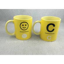 Tasse jaune, tasse promotionnelle de 11 oz