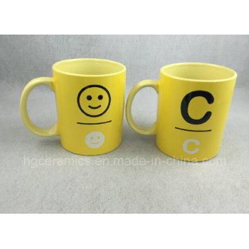 Желтая кружка, рекламная кружка на 11 унций