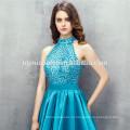 2017 горячая продажа новая мода зеленый цвет тяжелых вышитый бисером дизайн холтер платье невесты онлайн