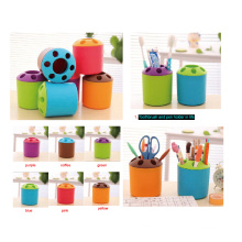 Color Plastic Toothbrush and Pen Holder in Life