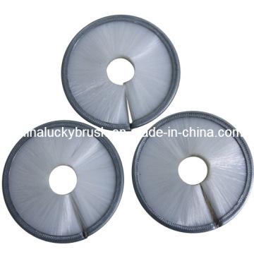 Material de nylon blanco tiras de color cepillo redondo (yy-009)