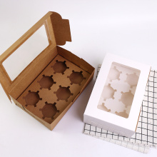 Factory directly provide for Kraft Paper Box Kraft Biscuits Netto Paper Box with Clear Window export to India Wholesale
