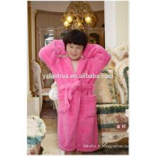 2015 OEM haute qualité Soft Kids peignoir longueur de genou