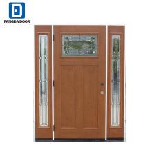 Фанда новый дизайн стекловолокна входные двери с белыми подфарниками